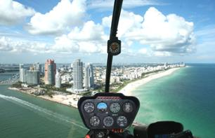 Helicopter flight over Miami