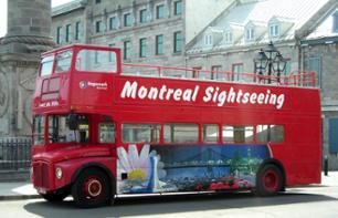 Montreal by double decker bus - 1 day pass