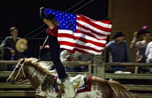Rodeo Show in an American Ranch