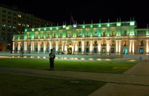 Santiago by Night: Tour on Foot and by Minibus followed by Dinner