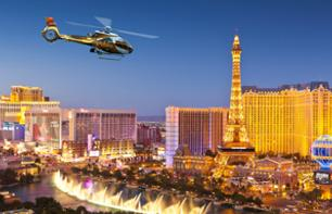 Helikopterrundflug: Las Vegas am Abend – VIP-Transport als Option