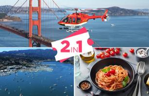 Helicopter Flight Over San Francisco with Lunch and Afternoon in Sausalito