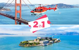 Alcatraz + Helicopter Flight over San Francisco