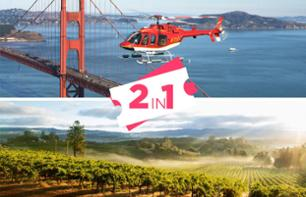 VIP Helicopter Flight over San Francisco & Excursion to Vineyards with Wine Tasting