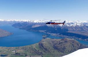 Helicopter flight above Fiordland National Park – Departing from Queenstown