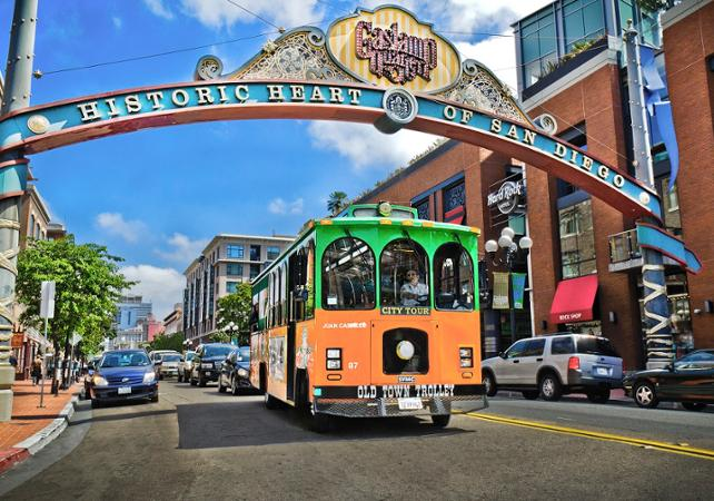 Transport Pass Visit San Diego By Trolley Bus Hop On Hop Off Tour