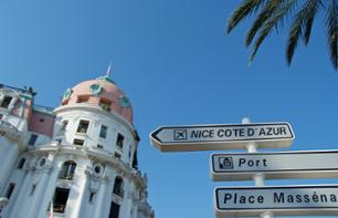 Daytime transfer by private vehicle to Nice and Nice airport from Monaco.