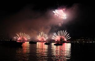 Admire Fireworks in the Bay of Cannes Aboard a Boat