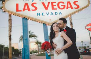"Marriage at the ""Welcome to Fabulous Las Vegas"" sign"