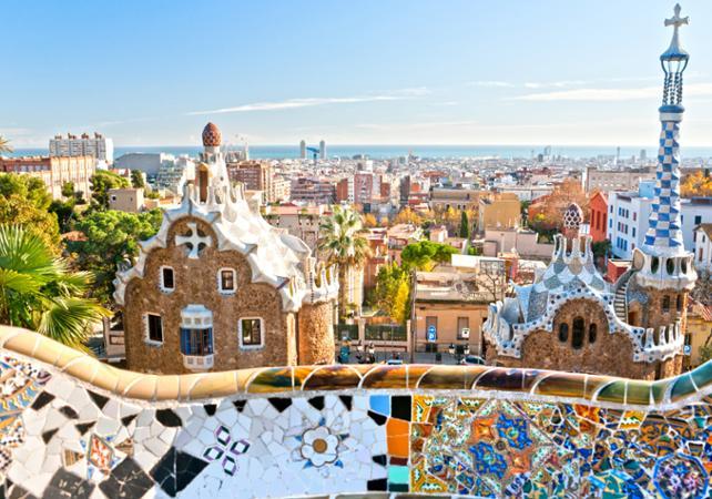Visite guidée à pied du Parc Guell - accès coupe file - Barcelone -