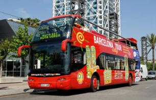 Tour di Barcellona con bus a fermate multiple e giro in catamarano ecologico