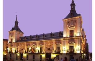 Night-Time Tour of Madrid by Tourist Bus and Dinner at the Café de la Ópera