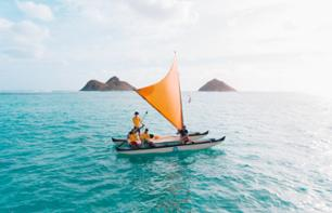 Hawaiian pirogue sail and snorkelling in the Mokulua Islands (private tour) - Kailuah beach, Oahu