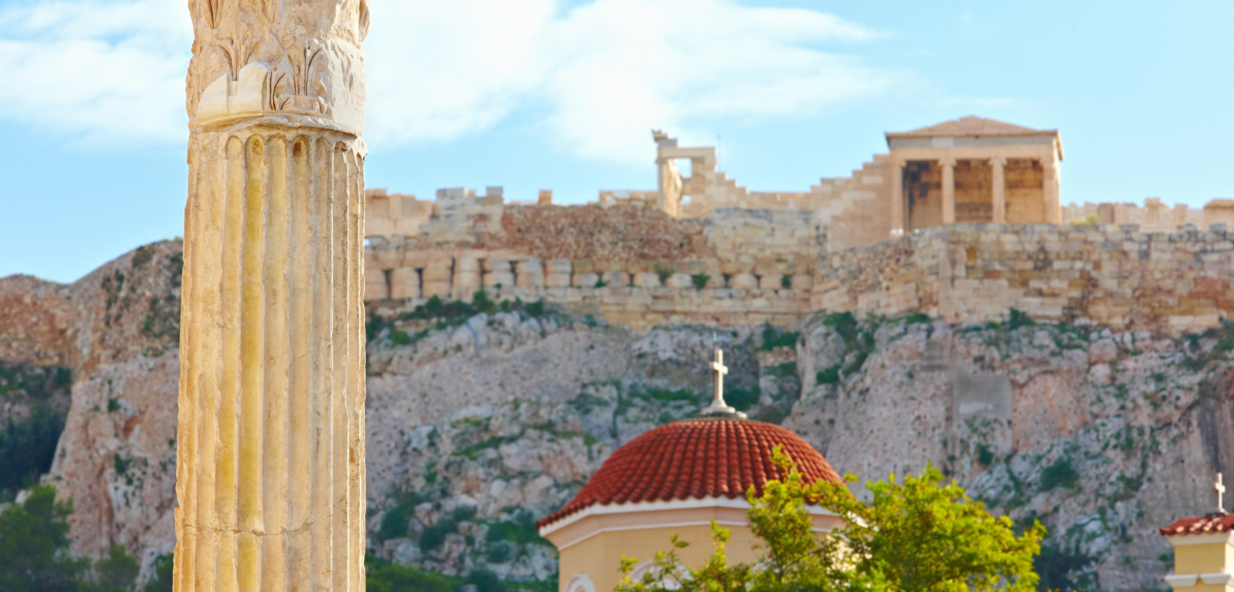 ,Acrópolis,Con tour por Atenas