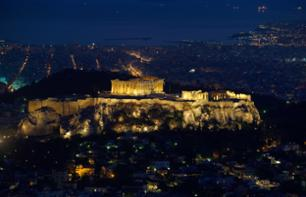 Bus Tour of Athens by Night + Traditional Greek Dinner & Show