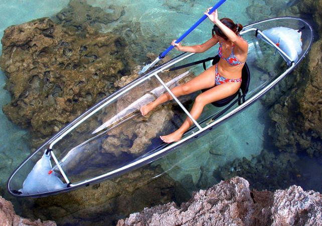 Balade en kayak transparent à La Réunion - La Réunion et ses sites touristiques -