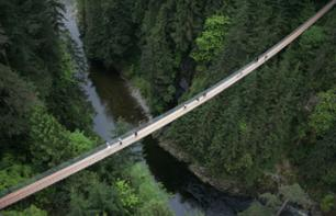Discovery tour of Vancouver's North Shore : a salmon farm, the Capilano Suspension Bridge and Grouse Mountain