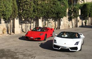 Ferrari/Lamborghini Driving Experience: Private 15 Minute Tour – Pilot or co-pilot – Departing from Eze (30 mins. from Nice)