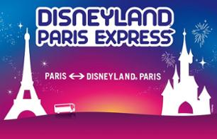 Return Shuttle and Ticket to Disneyland® Paris: 1 day/2 parks-