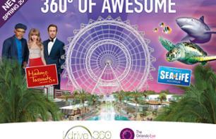 Billet coupe-file 3 en 1 : Madame Tussauds, aquarium SeaLife et grande roue Orlando Eye