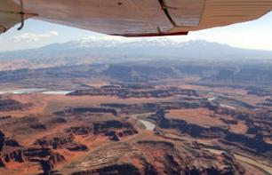 Survol du Parc national de Canyonlands en avion touristique (1h) - Moab