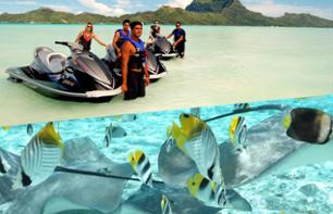 Jet Ski activities, safari with rays and sharks and lunch at Bora Bora - in French