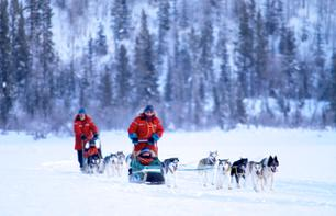 4 Days/3 Nights in the Heart of the Yukon: Accommodation + dog sledding, snowmobile, snowshoes and ice fishing – Departing from Whitehorse