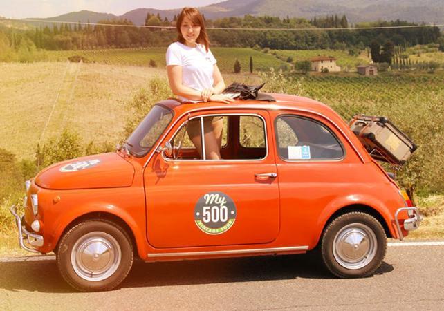 Tour guidé en Fiat 500 de la région du Chianti – Au départ de Florence - Florence -