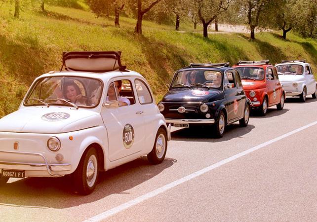 Tour guidé en Fiat 500 de la région du Chianti - au départ de Sienne - Sienne -