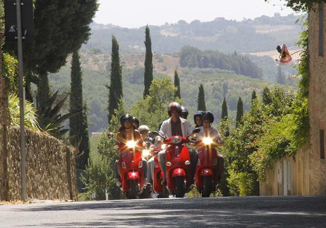 Tour guidé en Vespa de la région du Chianti - au départ de Sienne - Sienne -