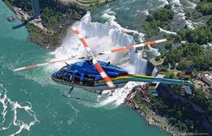 Helicopter Flight over Niagara Falls – Departing from the Canadian side