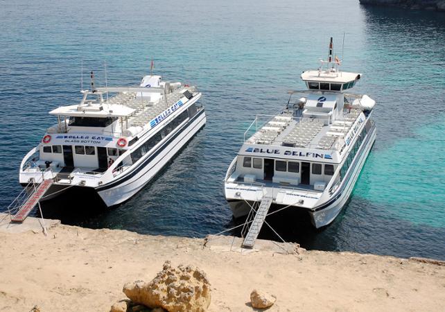 Journée en bateau à vision sous-marine dans la baie de Palma avec déjeuner – sans transport - Palma de Majorque -