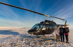Helicopter flight over Reykjavik and Mt. Esja
