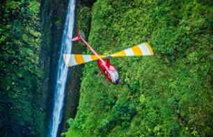 Helicopter flight: Honolulu, south and east coasts to Sacred Falls (45 mins) - to Oahu