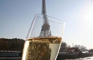 Champagne river cruise: departing from the foot of the Eiffel Tower