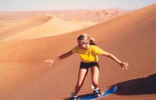 Sports in the Dubai Desert: 4X4 Dune Bashing & Sandboarding