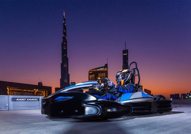 session de kart avec vue sur le burj khalifa à Dubai