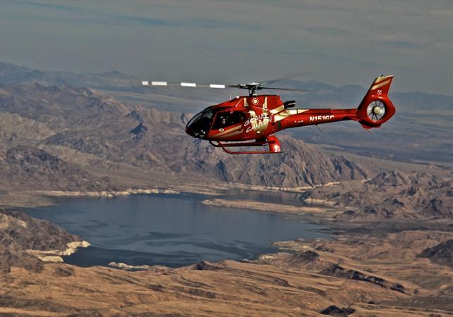 Photo Survol en hélicoptère : Grand Canyon et barrage Hoover