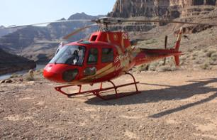 Helicopter flight over the Grand Canyon and Boat ride over the Colorado river - Departure from the Grand Canyon West Rim