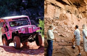 Walking and off-road vehicle tour of the Sedona canyons and ruins