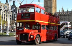 London Tour by Vintage Bus & Thames Cruise with Afternoon Tea and Champagne