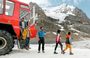 Excursion en tracteur de neige sur le champ de glace Columbia & Billet pour le Skywalk