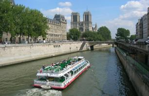 Notre Dame + The Louvre Museum + Seine Lunch Cruise + Tour of Montmartre – Hotel pick-up/drop-off