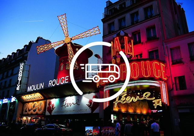 Spectacle Moulin Rouge - Départ/Retour Hôtel - Paris -