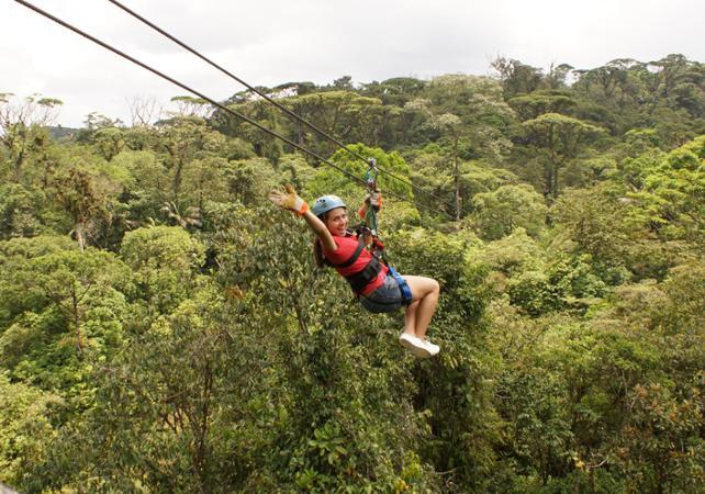 Ultimate explorer : téléphérique, tyroliennes, pont suspendu et balade en forêt - A proximité du Parc national Braulio Carrillo - San José (Costa Rica) -