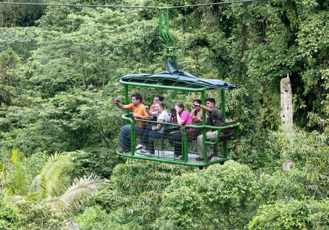 Traversée de la canopée en téléphérique et balade en forêt - A proximité du Parc national Braulio Carrillo - San José (Costa Rica) -