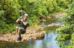 Zip-line Tour – Near Braulio Carrillo National Park