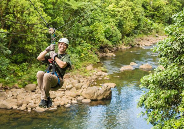 Descentes en tyrolienne - A proximité du Parc national Braulio Carrillo - San José (Costa Rica) -
