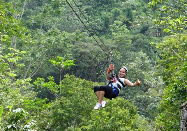 Ultimate adventure : téléphérique, tyroliennes, escalade d'une cascade et pont suspendu - Sur la côte Pacifique - San José (Costa Rica) -