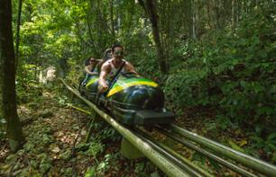 Bobsled ride at Mystic Mountain Jamaica
